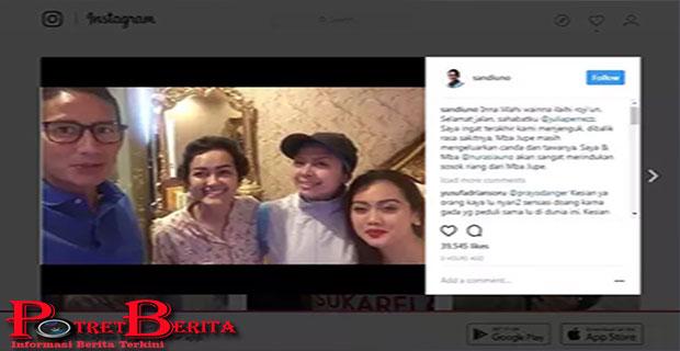 Sandiaga Uno Akan Sangat Merindukan Sosok Julia Perez Yang Periang