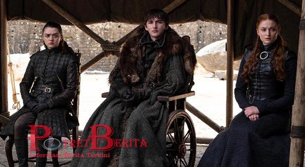 Gaya Rambut Finale Sansa Stark Seperti Seorang Ratu