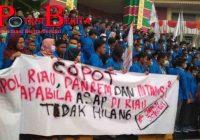 Aksi Demo Di Riau Berlangsung Ricuh