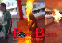 Keadaan Pria Hongkong Yang Dibakar Setelah Koma